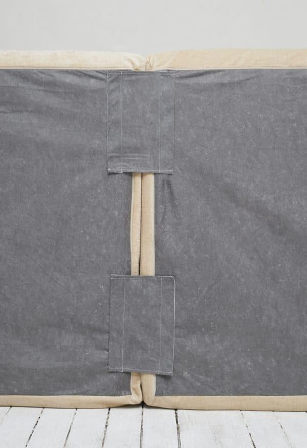 bandes scratch raccord des deux modules canape boheme lin 4 places