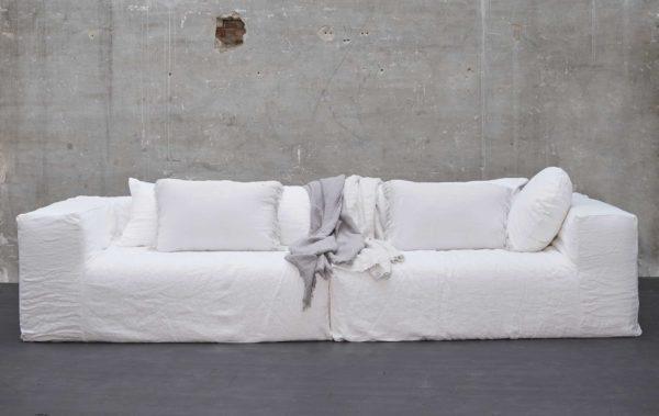 grand canape boheme chic lin blanc