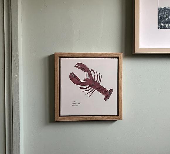 cadre décoratif homard et amour lldeco