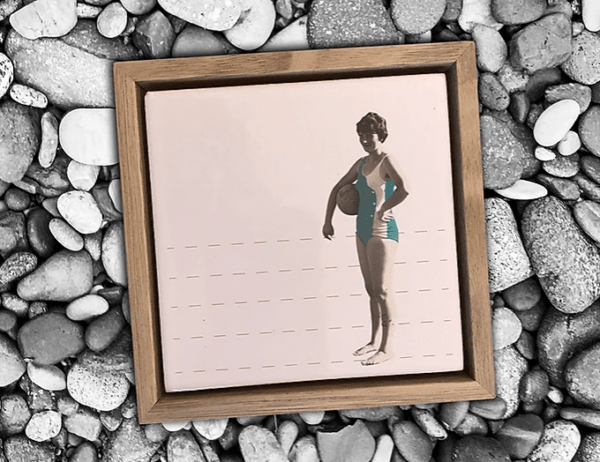 cadre deco femme vintage lldeco