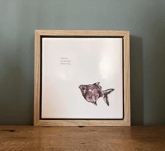 cadre deco murale poisson rouge lldeco