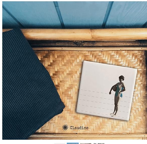 carreau artisanal femme maillot vintage lldeco
