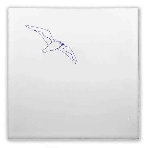 carreau artisanal oiseau bleu lldeco
