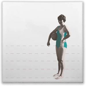 carreau ceramique artisanal femme en maillot lldeco