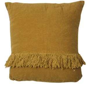 coussin carre lin moutarde lldeco