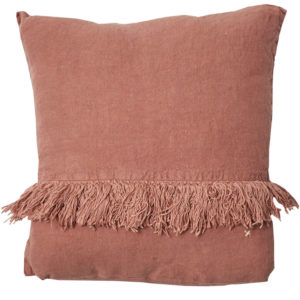 coussin carre lin vieux rose lldeco