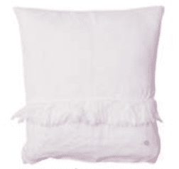 coussin 100%lin blanc carre lldeco