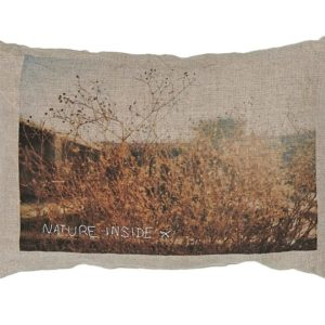 coussin lin serigraphie nature