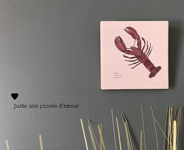 deco murale homard lldeco