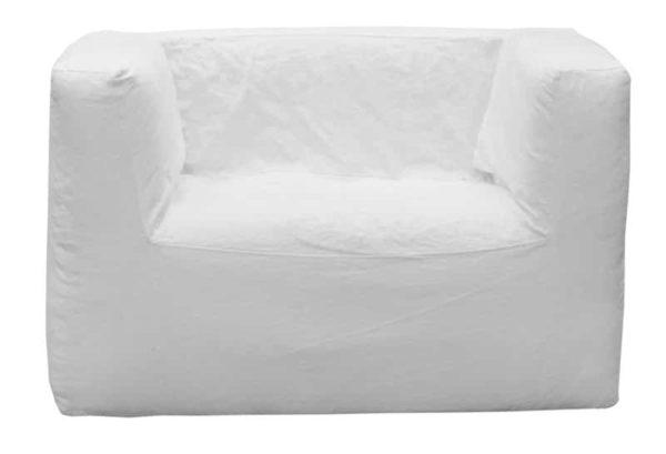 fauteuil dehoussable en lin froisse blanc lldeco