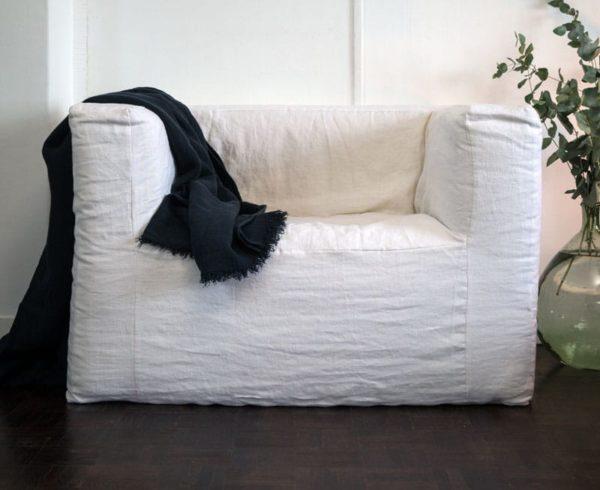 fauteuil en lin nuit lldeco