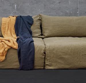 grand canape boheme lin froissé 4P-kaki