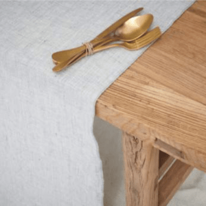 nappes carree en lin naturel lldeco
