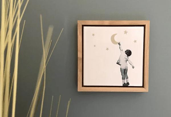tableau ceramique decrocher la lune by lldeco