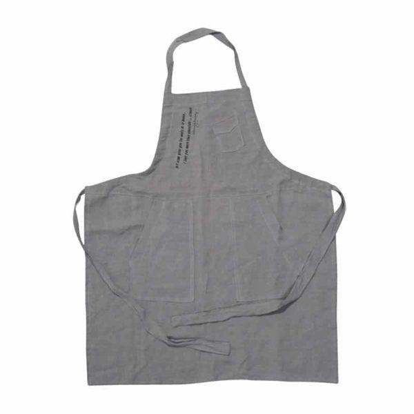tablier cuisine enfant lin gris lldeco