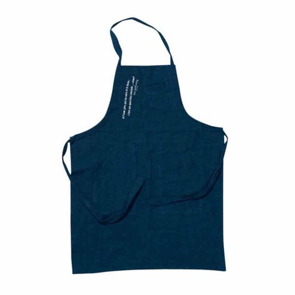 tablier cuisine pour enfants bleu piscine lldeco