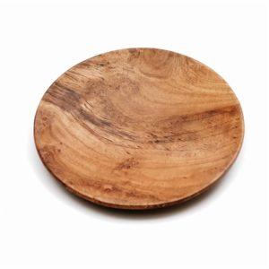 assiette ronde teck petite lldeco