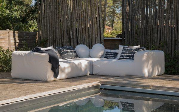 canapé jardin blanc bed&philosophy