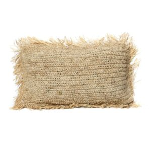 coussin rectangle raphia naturel lldeco