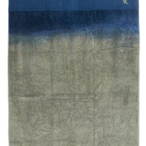 drap de bain kaki:bleu piscine lldeco