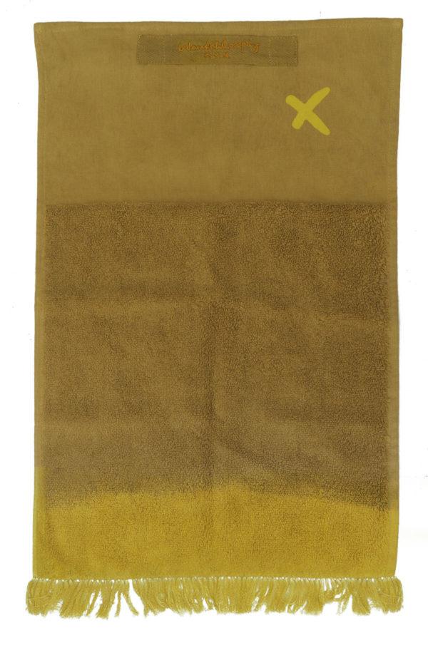 drap de bain tie&dye lldeco jaune curry