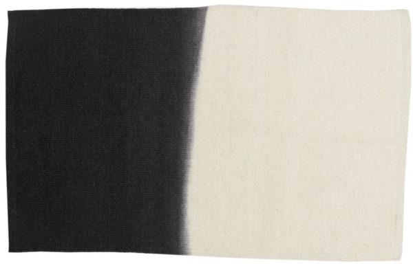grand tapis laine ecru charbon lldeco