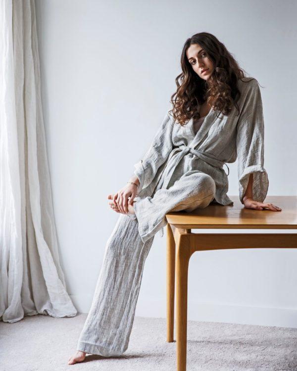 kimono lin changeant lldeco