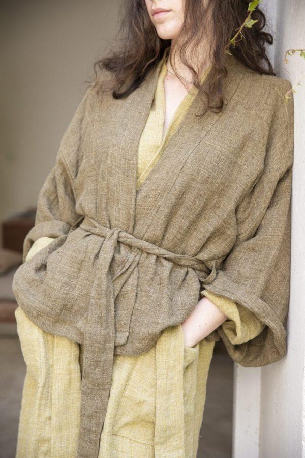 kimono lin femme lldeco