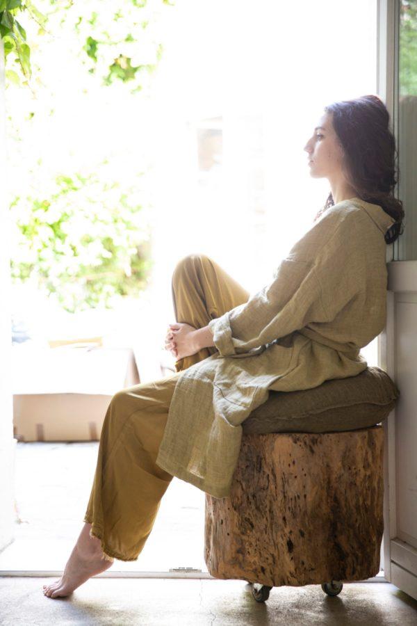 kimono long femme lin lldeco