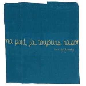 plaid lin de plage bleu lldeco