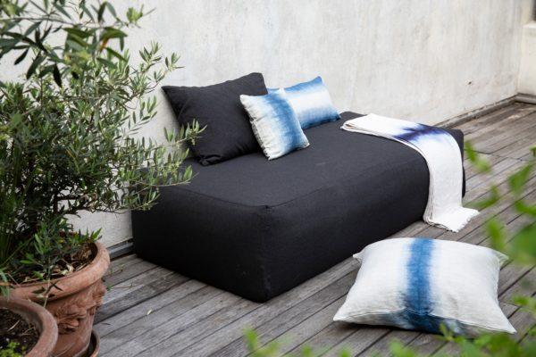plaid lin deepdye maison et objet bed&philosophy