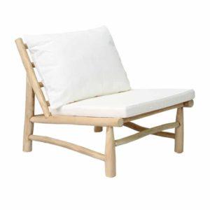 fauteuil outdoor teck blanc lldeco