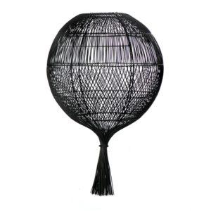 lampadaire rotin noir lldeco