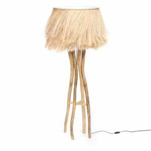 lampe à poser salon en teck naturel lldeco