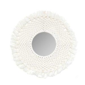 miroir blanc macrame by lldeco