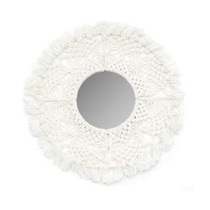 miroir unique macramé blanc lldeco