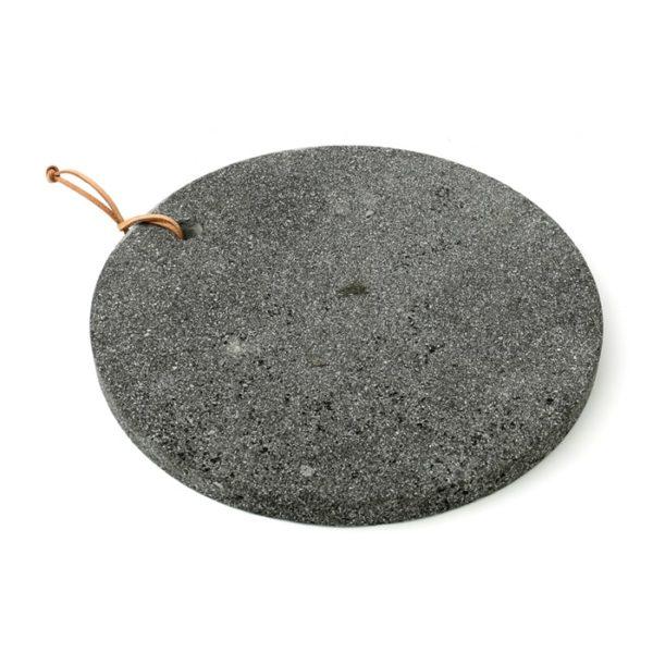 planche pierre de lave noire à découper lldeco