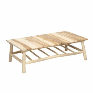 table exterieur teck bois flotté