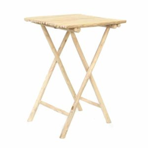 table haute pliable teck naturel
