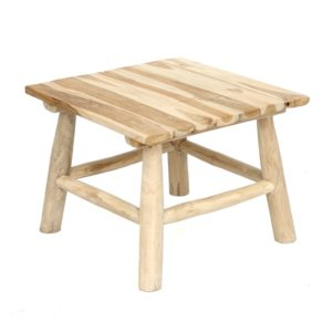Table d'appoint Island en teck naturel