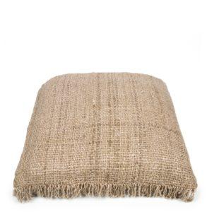 coussin carre cotton naturel tissage large