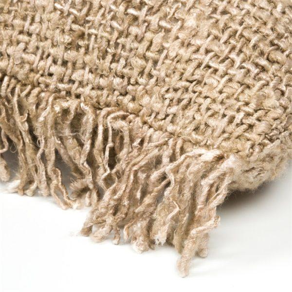 coussin carre fibre naturel chic