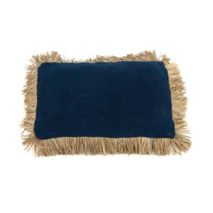 coussin saint tropez bleu rectangle lldeco