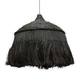 grande suspension noire en fibre naturelle