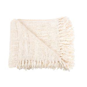 plaid blanc coton lldeco