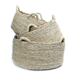 3 panierS fibre naturelle lldeco