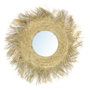miroir en fibre de rotin naturel lldeco