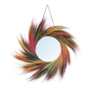miroir rond Lollipop Multicolor en fibre naturelle lldeco